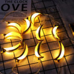 New 10PCS Golden Moon Shape Eid Ramadan LED String Light Lamp  Islamic Indoor Home Party Decor