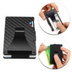 New Men RFID Blocking Slim Carbon Fiber Wallet ID Credit Card Holder RFID Money Clip Case