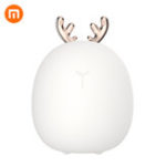 New Xiaomi 3life Rabbit Fawn Silicone LED Night Light Warm White Light USB Charge Childern Desk Bunny Night Lamp