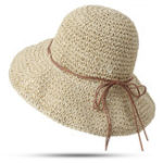 New Women Foldable Sunscreen Anti-UV Bucket Straw Hat