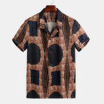 New Mens Vintage Fashion Patches Design Printed Shirts