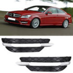 New Front Bumper DRL Daytime Running Lights Grill Cover Left/Right for Mercedes-Benz W204 C-Class 2011-2013