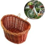 New Trendy Style ProSource Bicycle Basket Bike Wicker Style With Straps
