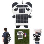 New 6W 5V Portable Panda Shape Monocrystalline PET Solar Panel with USB Port