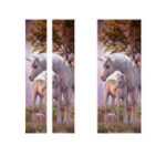 New 77*200cm PVC 3D Door Wall Sticker The Unicorn In The Forest DIY House Decorations