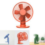 New Xiaomi VH 4.5W 2 In 1 Clip-on Table Desktop USB Fan 90° Rotatable 3 Modes Wind Speed Cooling Fan Outdoor Travel
