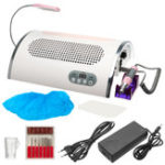 New 100-240V 3 in 1 25000RPM Electric Nail Drill Art Set Dust Collector Suction Machine with Lamp