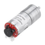 New Machifit 25GA370 DC 12V Micro Gear Reduction Motor with Encoder Speed Dial Reducer
