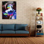 New Rainbow Unicorn Paint By Number Kit DIY Digital Oil Paintings Canvas Home Decor