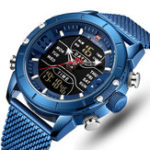 New NAVIFORCE 9153 Business Style LED Dual Digital Watch