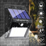 New 20 LED 400Lumen Outdoor Solar Wall Lamp Wireless Motion Sensor Lights Waterproof Bright Security Night Light for Yard Walkway
