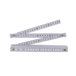 New TP 2M Plastic Folding Ruler Straight Ruler Double Scale 10 Locking Joints 200cm Portable Carpenter Measuring Tools