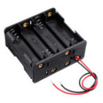 New 4 Slots NO.5 Battery Holder Plastic Case Storage Box for 4*NO.5 Battery