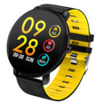New Bakeey K9 Full Touch 2.5D Screen Ultra-thin Heart Rate Blood Pressure IP68 Detachable Strap Smart Watch