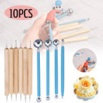 New 10Pcs DIY Dotting Tool Ball Styluses Tools Kit For Mandala Rock Painting Pottery Clay