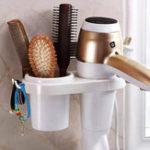 New Hair Dryer Rack Comb Holder Bathroom Storage Organizer