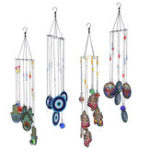 New Colorful Wind Chimes Crystal Ball Prism Hanging Window Craft Gift Home Garden Decorations