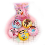 New Squishy Bun Bread Lovely Girl Hanging Ornament Slow Rebound Jumbo 7cm Gift Collection