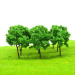 New 37Pcs/Lot Micro Model Green Trees Mixed Landscape Garden Scenery Sandwork Decorations