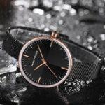 New MINI FOCUS MF0275L Ultra Thin Mesh Strap Women Quartz Watch