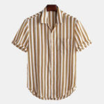 New Mens Summer Classic Striped Casual Business Button up Shirts