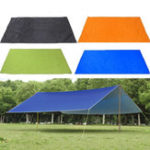 New 210x300cm Outdoor Camping Tent Sunshade Rain Sun UV Beach Canopy Awning Shelter Beach Picnic Mat Ground Pad