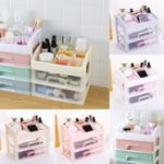 New Plastic Cosmetic Drawer Makeup Organizer Makeup Storage Box Container Desktop Sundry Storage Case