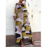 New Retro Floral Maxi Dress