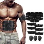 New KALOAD 12PCS EMS Arm Abdominal Muscle Trainer Body Beauty ABS Stimulator