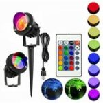 New 10W RGB LED Flood Spot Light Waterproof Outdoor Garden Landscape Path Lawn Lamp AC85-265V