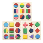 New Early Education Children Jigsaw Puzzle Toy Wooden Geometric Board Cognitive Matching Board