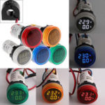 New 2in1 22mm AC50-500V 0-100A Amp Voltmeter Ammeter Voltage Current Meter With CT Au23