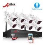 New ANRAN 1080P 8CH NVR Audio Record Outdoor Night Vision CCTV Camera Video Surveillance System