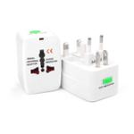 New White Electric Plug Power Socket Adapter US UK EU AU International Universal Travel Socket Battery Charger Converter