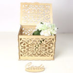 New Greeting Card Box Wedding Decor Supplies Decorations Wooden Gift Case