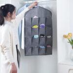 New Oxford Cloth 16 Grid Hanging Bag Door Back Debris Storage Bag Cloth Hanger