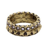New Double Layer Rhinestone Finger Ring