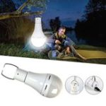 New 9W 5 Modes USB Rechargeable Pure White Emergency Outdoor Tent Camping LED Light Bulb DC5V
