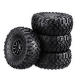 New 4PCS MN-90 1/12 Rc Car Spare Parts Rubber Wheel Rim & Tires