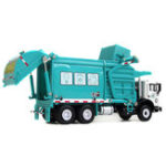 New 1:24 Garbage Truck Toy Model Metal Recycling Clean Garbage Car Gift Decorations
