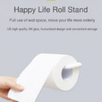 New Xiaomi Happy Life Tissue Holder Box Paper Roll Stand Wall Sticker Bathroom Storage Decorations House Decor