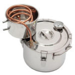 New 10L New Copper Distiller Moonshine Alcohol Still Stainless Thermometer DIY Home Brew Kit