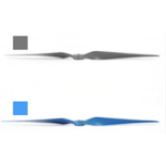 New Sunnysky EOLO 12 Inch 12*6.5 Propeller 30-70E Blade CW Prop Blue/Gray For RC Airplane Fixed Wing
