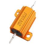 New RX24 25W 10R 10RJ Metal Aluminum Case High Power Resistor Golden Metal Shell Case Heatsink Resistance Resistor