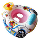 New Inflatable Car Kids Swimming Ring Baby Toddler Swimming Pool Toy Children Float Seat Boat Ring