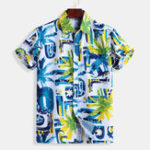 New Mens Summer Fashion Colorful Printing Shirts