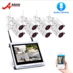 New ANRAN 1080P 8CH Wireless Audio Record Surveillance Camera System IP Camera Outdoor Night Vision CCTV Security Camera System
