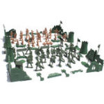 New 54 Scene / 37 Scene 60 Soldiers Military Model WW2 Scene Army Model Brick Tank Figure Collection DIY Toys
