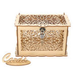 New Wooden Wedding Card Box Collection Gift Card Post Boxes Weddings Decor With Lock
