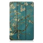 New Tri-Fold Pringting Tablet Case Cover for Samsung Galaxy Tab A 8.0 2019 SM-P200 P205 Tablet – Apricot Blossom